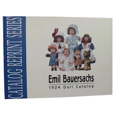 Doll Reference Book! German Bisque Doll Catalog Reprint Emil Bauersachs