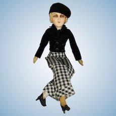 RARE! 1920s Marlene Dietrich Silent Film Actress Compo Boudoir Doll!