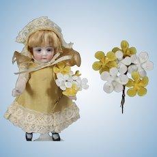 Lovely Antique Doll Size Czech Glass Bouquet Flowers!