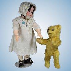 """Sweet 10"""" Antique Teddy Bear Doll's Best Friend!"""