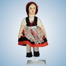 Vintage Italy Cloth Lenci Type KIMPORT Tag Doll!