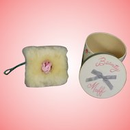 Darling Vintage 1950s Doll Beauty Lambswool Muff - Powder Puff!