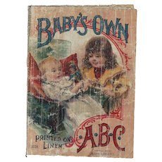 "Antique McLoughlin Bros Children's ABC Linen Book ""Baby's Own"""