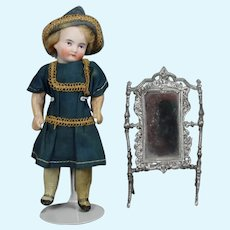 Antique German Doll Swivel Cheval Mirror Dollhouse