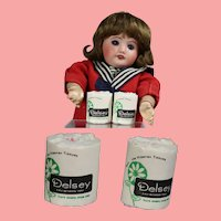 2 Rolls Vintage Mini Doll Toilet Tissue for Doll Store!