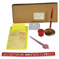 Vintage 1961 Toy Mini Junior Executive Desk Set in Orig Box!
