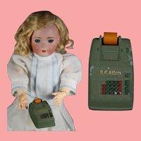 Vintage R.C. Allen Salesman Sample Doll Size Adding Machine!