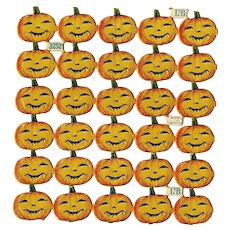 Antique German Halloween Jack O'Lantern Scrap!