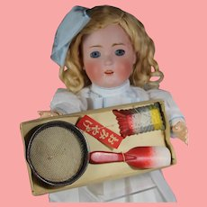 Vintage Doll Sized Sand Toy Sieve Mold Shovel in Orig Box!