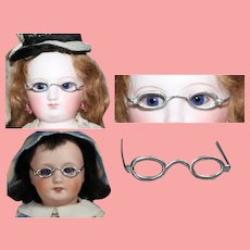Antique German Metal Doll Glasses fit French Fashion Bleuette Etc!