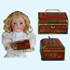 Antique Tin Litho Mini Doll Sized Bank! LAST ONE!