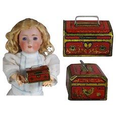 Antique Tin Litho Mini Doll Sized Bank! LAST ONE!