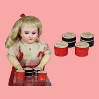 4 Tiny Antique Boxes for Doll Science Laboratory!