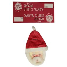 Vintage 1950s Santa Claus Christmas Lollipop Paper & Orig Tag JAPAN