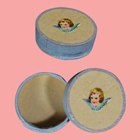 Lovely Antique Round Box for French Fashion Doll Accessories!