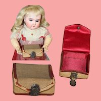 Antique Mini Box Case w Clasp For Doll Accessories!