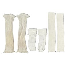 3 Vintage Pairs White Doll Socks for 40s-50s Dolls!