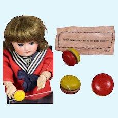Vintage Mini Doll Wooden Yo-Yo in Orig Package! JAPAN