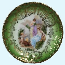 Very Small Antique Doll Size Royal Bavarian Plate Germany!