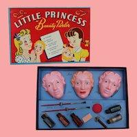 Vintage Little Princess Beauty Parlor Makeup Doll Face Toy!
