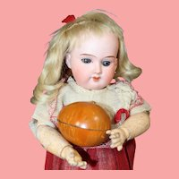 Darling Antique Doll Football Candy Container!