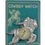 Vintage Toy Western Cowboy Watch Pin Brooch on Orig Card!