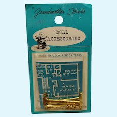 Vintage Dollhouse Doll Grandmother Stover's Tools Blue Prints!