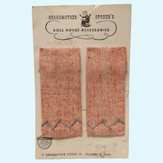 Vintage Dollhouse Doll Grandmother Stover's Kitchen Towels!
