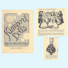 Vintage Kimport 1960-61 Doll Catalog!