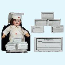 5 Antique Mini Unused Pill Boxes for Your Nurse Doll!