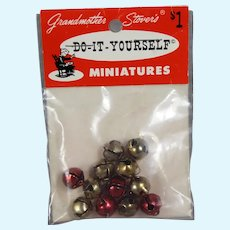 Vintage Dollhouse Doll Grandmother Stover's Mini Christmas Jingle Bells!!