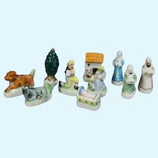 "Doll Sized Bisque Nativity PROVENCE Creche French ""Feves"" King Cake Favors!"