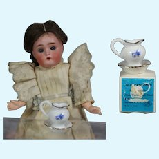 Darling Vintage Japan Shackman Dollhouse Doll Bowl and Pitcher Set w Box!