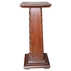 Lovely Antique Dark Wood Pedestal Stand!