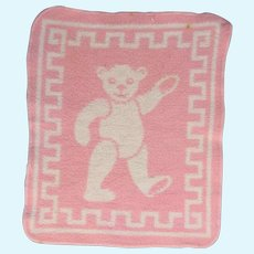 Dy Dee Baby Doll Esmond Reversible Flannel Teddy Bear Blanket!