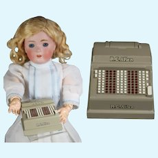 Vintage 1958 R.C. Allen Salesman Sample Doll Size Cash Register!