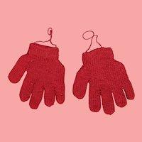 Darling Vintage Mini Red Doll Gloves!