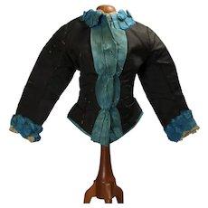 """Antique French Fashion Doll Bodice! 14-16"""" Doll"""