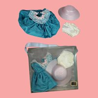 "Darling Vintage 1950s 8"" Doll Ginny Type Taffeta Dress in Orig Box!"
