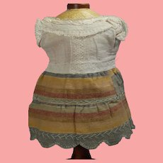 """Antique Doll Dress for 13"""" Bisque Doll!"""