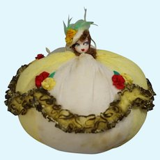 Vintage 1930s Darling Southern Belle Doll Pin Cushion!