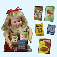Vintage German Doll Sized Food Boxes!