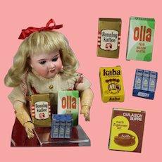 Vintage German Doll Sized Food Boxes!