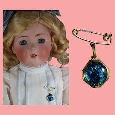 Vintage French Doll Sized Religious Medal Pin Brooch! St. Bernadette