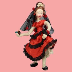 Vintage Spanish Cloth Doll Klumpe Roldan Dancer!