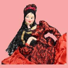 Vintage Spanish Cloth Doll Goya Klumpe Roldan w Orig Tag!