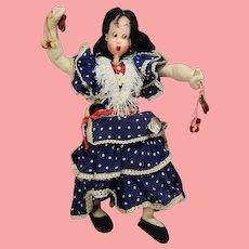 Vintage Spanish Cloth Doll Princesa Klumpe Roldan w Orig Tag!