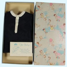 1930s Infant Shirt in Baby Gift Box! Or for Boy Doll Teddy Bear to Wear
