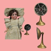 Antique Dollhouse Doll Sized Movable Fan!