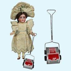 Darling Vintage Doll Sized Tin Litho Vacuum Sweeper!